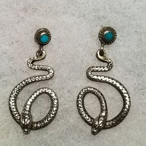 925 silver and turquoise vintage earrings